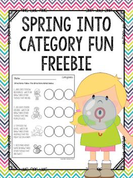 Spring into Category Fun FREEBIE