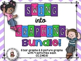 Swing into graphs task cards bundle {picture & bar graphs} CC.2.MD.D.10