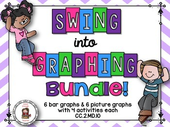 Swing into graphs task cards bundle {picture & bar graphs} CC.2.MD.D.10
