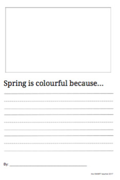 Spring is Colourful Writing Prompt