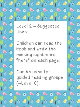 Spring is Here: An Easy Reader with 4 Levels of Word Study Differentiation