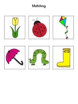 Spring is Here! Basic Skills Activity Pack for Students with Autism