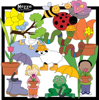 Spring is Here! Color Clip Art