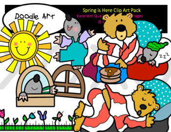 Spring is Here Clip Art Pack