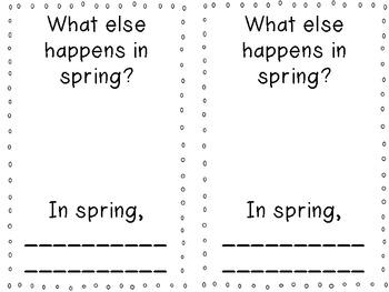 Spring is Here! Emergent Reader