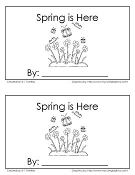 """Spring is Here"" Emergent Reader"