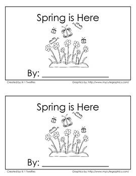 """Spring is Here"" Emergent Reader"