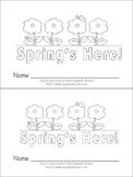 Spring is Here Emergent Reader- Preschool or Kindergarten