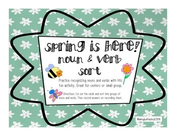 Spring is Here! Noun and Verb Sort