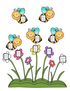 Spring is Here- Numbers 1-20 Number Tracing File Folder Game