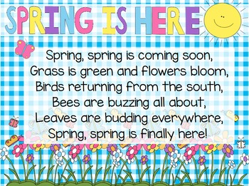 """""""Spring is Here"""" Poem of the Week Flipchart for ActivInspire"""
