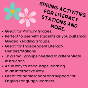 Spring Themed Literacy Stations for First Grade