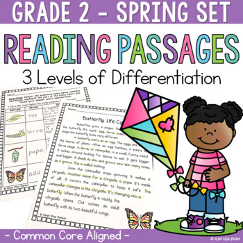 Differentiated Reading Passages and Questions Spring for 2nd Grade