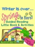 """Winter is Over""  Spring Poem,  Little Book, & Sight Vocabulary Fluency Practice"