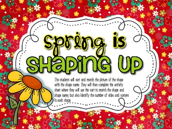 Spring is Shaping Up! {2D Shapes}