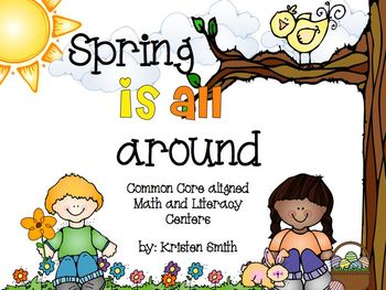 Spring is all around- math and literacy centers