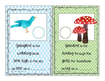 Spring is for being Silly: Interactive Articulation Book for Early Sounds