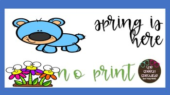 Spring is here NO PRINT Speech Therapy Book Companion