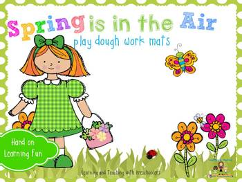Spring is in the Air play dough work mats