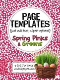 Spring-ish Page Backgrounds {Just Add Text} - For Personal & Commercial Use
