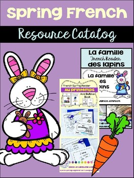 Spring {le printemps} French Resource Catalog ~ en français