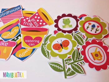Spring memory game - pots and flowers
