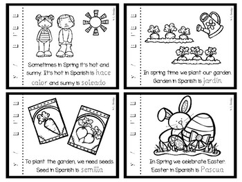 Spring mini-book in Spanish ~ La primavera vocabulary.