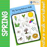 Spring nature walk worksheet