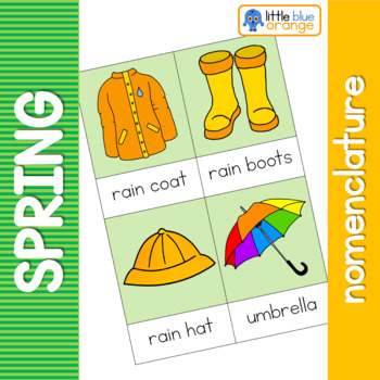 Spring nomenclature cards