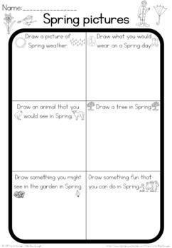 Spring  observation sheet
