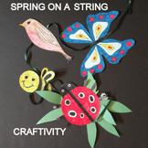 Spring on a String -  an easy-art craftivity