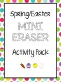 Spring or Easter Mini Eraser Activity Packet