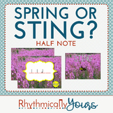 Spring or Sting? Interactive Rhythm Game - Half Note