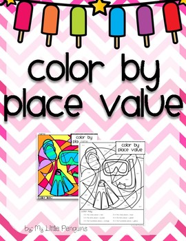 Spring or Summer Break color by Place Value Ones, Tens & Hundreds