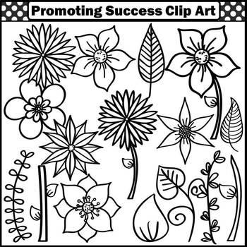 Flowers Clipart, Garden Clip Art, Summer Clip Art, Floral Classroom Decor SPS