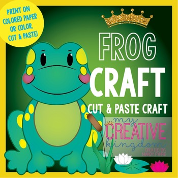 Spring or Summer Frog (Glyph) Craft