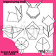 Spring origami clipart