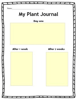Spring plant journal page