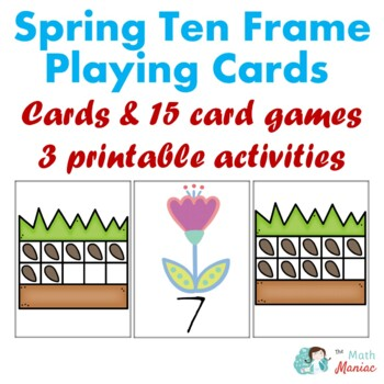 Spring theme 10 Frame Playing Cards and Activity Set