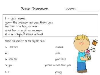 Spring theme pronouns