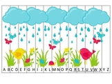 Spring themed Alphabet Sequence Puzzle.  Preschool Alphabet learning game.