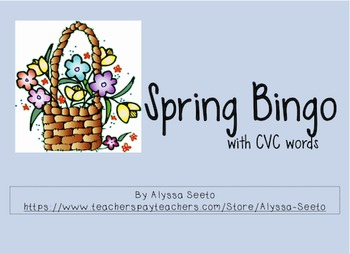 Spring-themed CVC Bingo