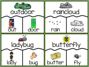 Spring themed Compound Word Puzzles