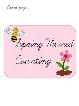 Spring themed Counting File Folder Game