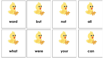 Spring themed Sight Word Oh No Game!