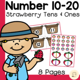 Spring themed Strawberry Tens and Ones - Free - Number 10-20
