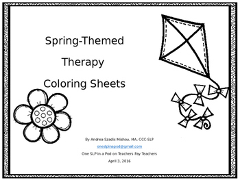 Spring-themed Therapy Coloring Sheets