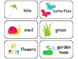 Spring themed printable Picture Word Flashcards. Preschool