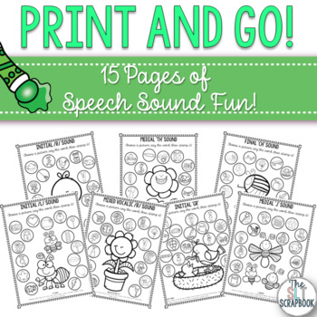 Spring themed speech sound worksheets- later sounds- print and go!