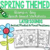 Spring themed speech sound worksheets- later sounds- print